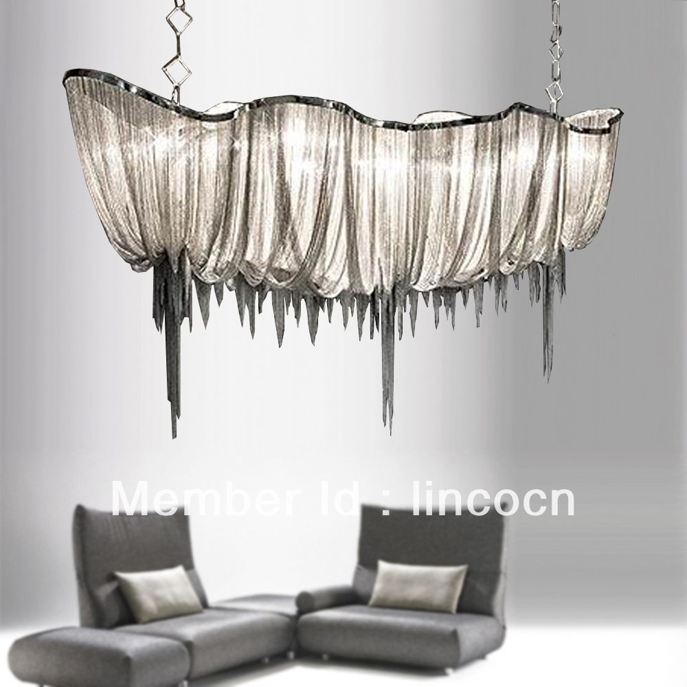 248500 Hot sell chrome metal with alluminium chain boat shape – Decorative Chains for Chandeliers