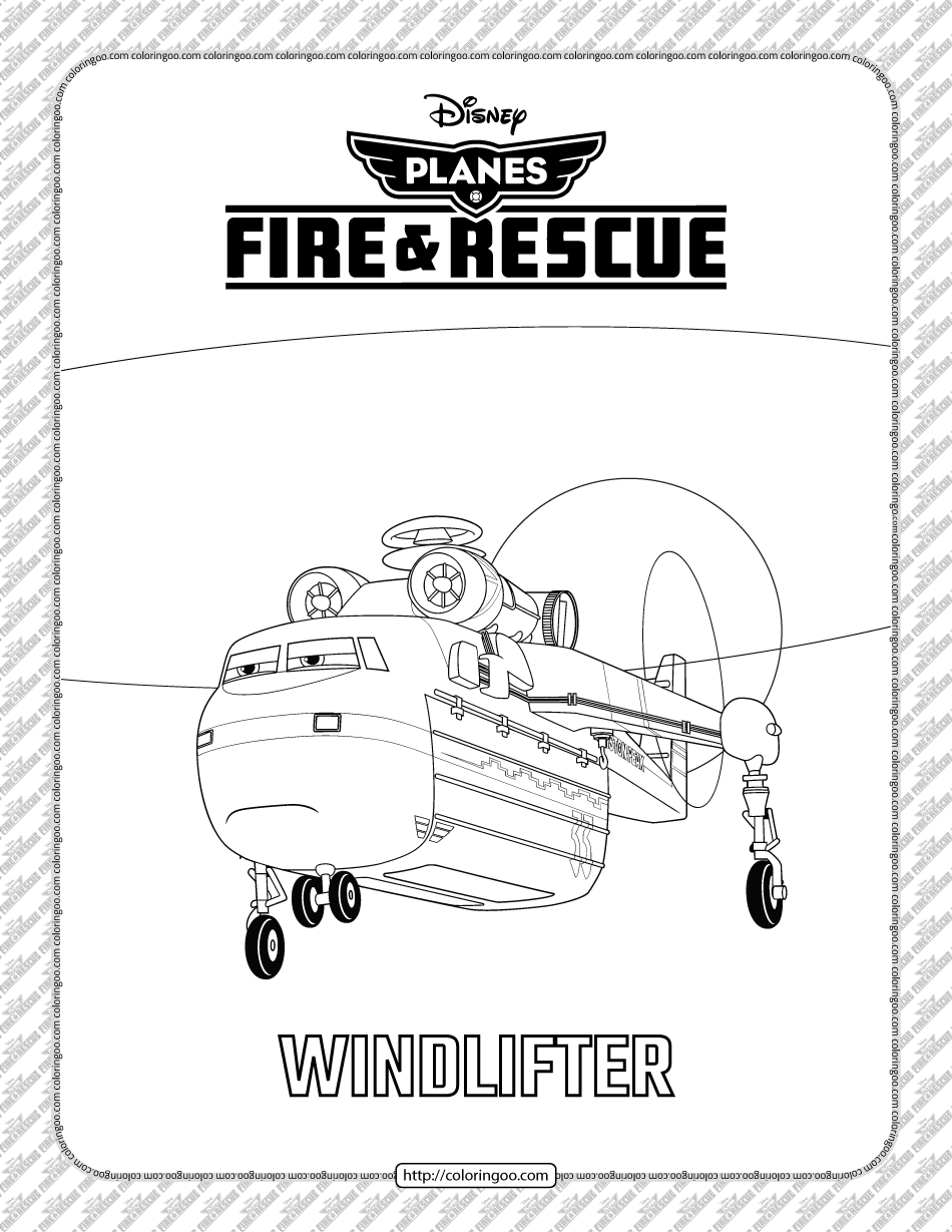 Planes Fire And Rescue Windlifter Coloring Page In 2021 Coloring Pages Rescue Coloring Books [ 1229 x 950 Pixel ]