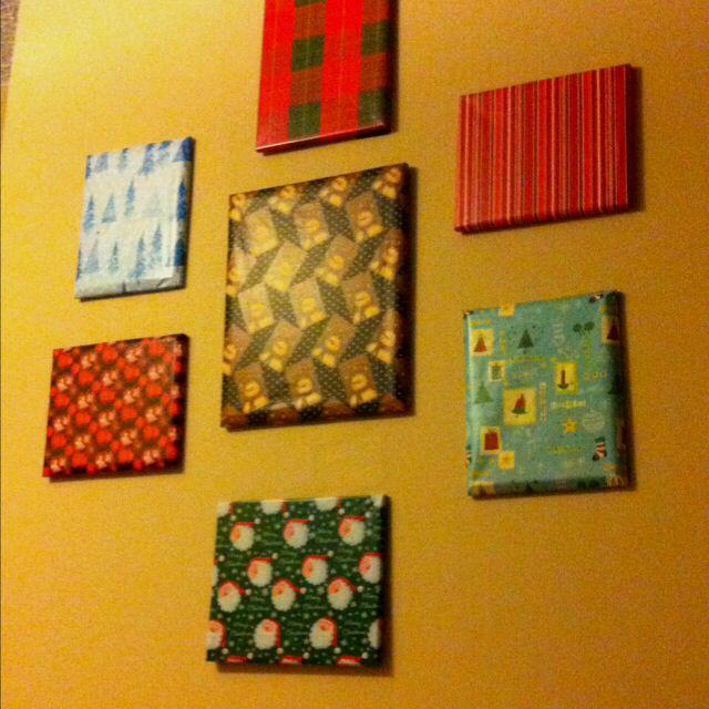 Christmas present wall decor   Christmas   Pinterest   Wall decor ...