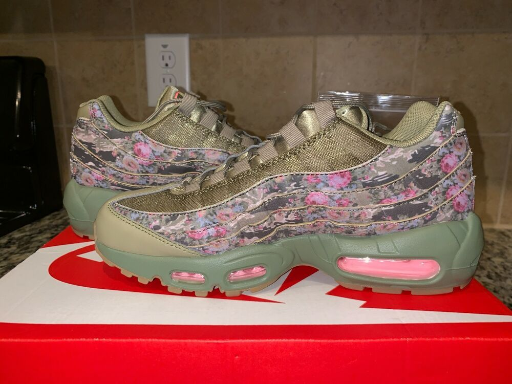 d73030f718 NIKE AIR MAX 95 WOMENS WMNS CAMO NEUTRAL OLIVE ARCTIC PUNCH AQ6385 200 CAMO  - Nike Airs (This is a link to Amazon and as an Amazon Associate I earn  from ...