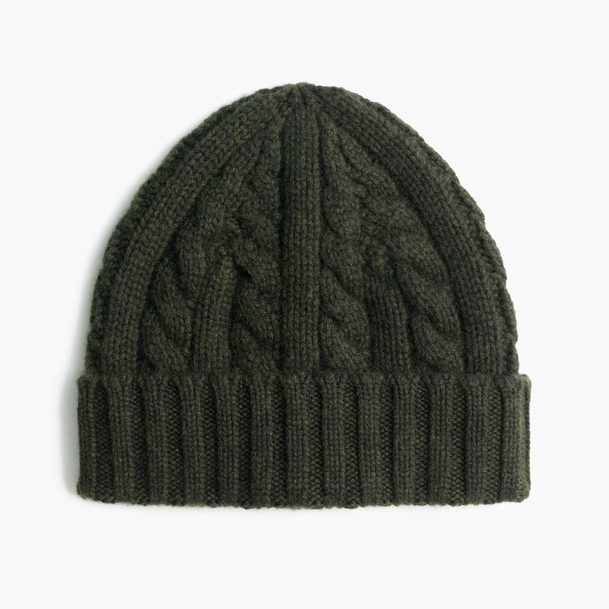 b6915dfb7 J.Crew Mens Cashmere Cable-Knit Beanie Hat | Products | Knitted hats ...