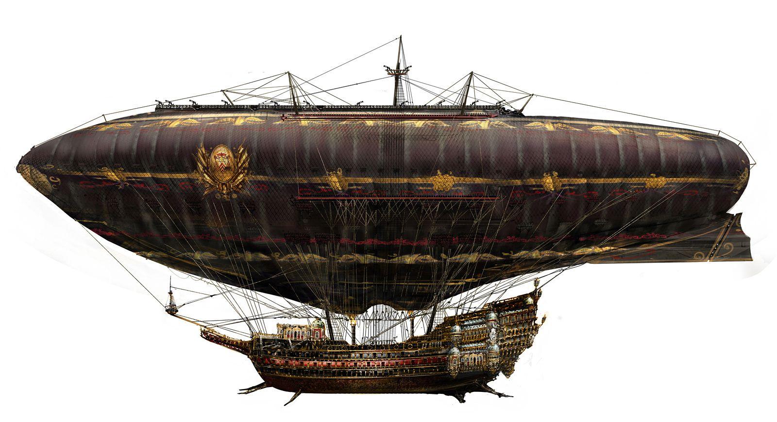 Steampunk Airships - Google Art