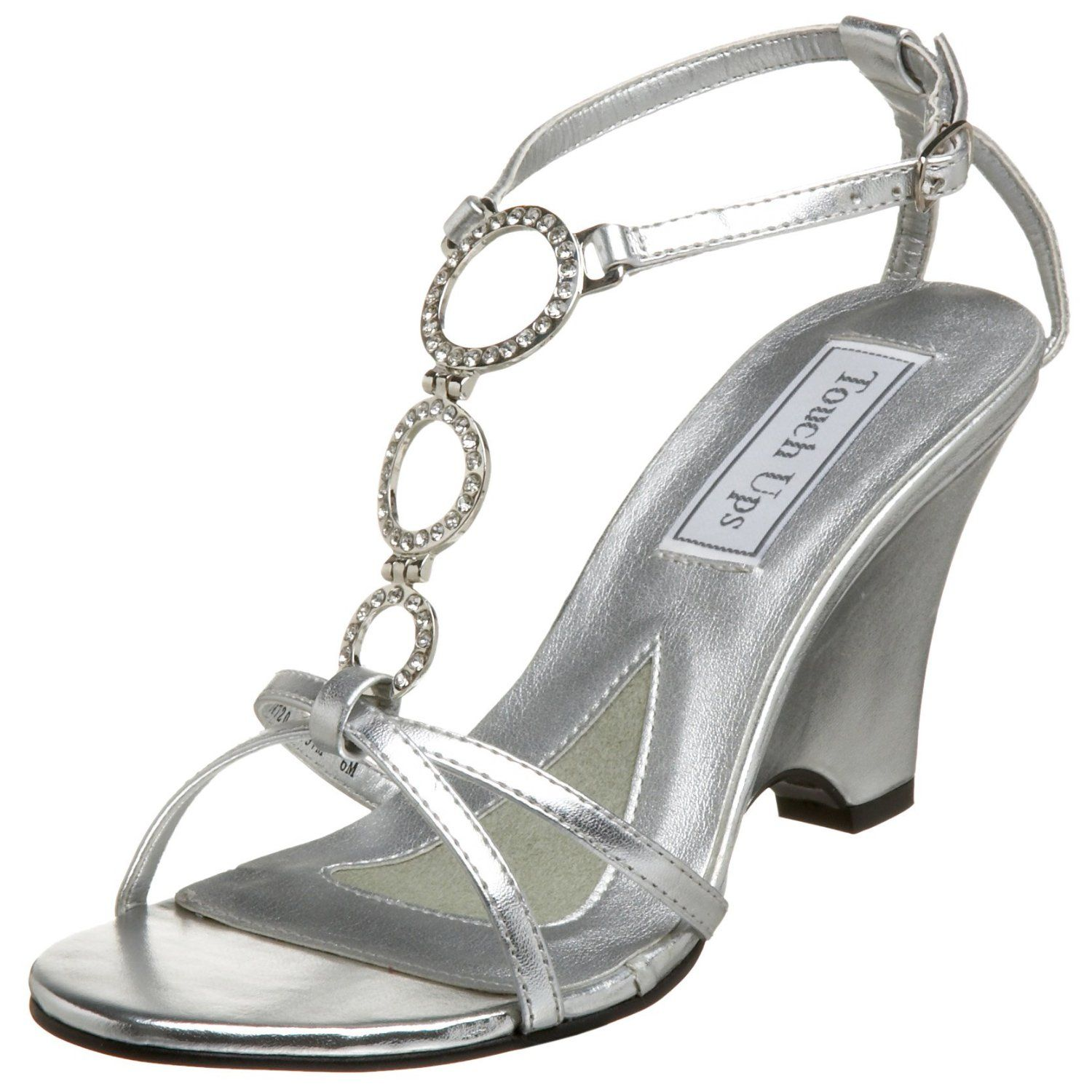Touch Ups Silver Wedge Shoes - $66