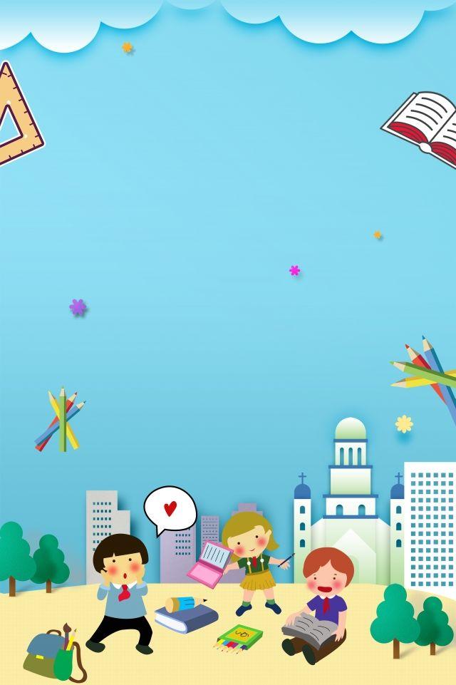 School Season Student Start School Supplies Discount Student Cartoon School Cartoon Graphic Design Background Templates
