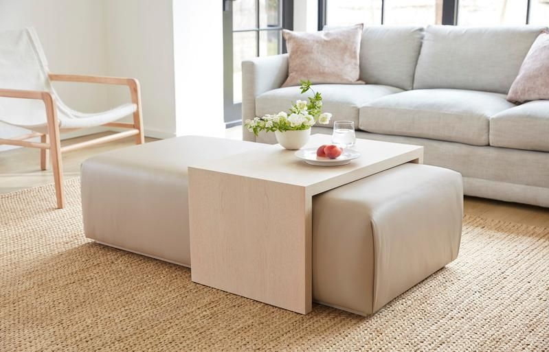 The Bowery Coffee Table Ottoman Ottoman Table Ottoman Coffee