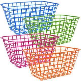 Bulk Essentials Tall Slotted Plastic Storage Baskets at DollarTree.com