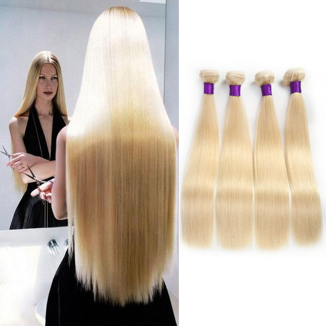 Aliexpress Hair Blonde Virgin Hair 4pcs Lot 8a Brazilian Virgin