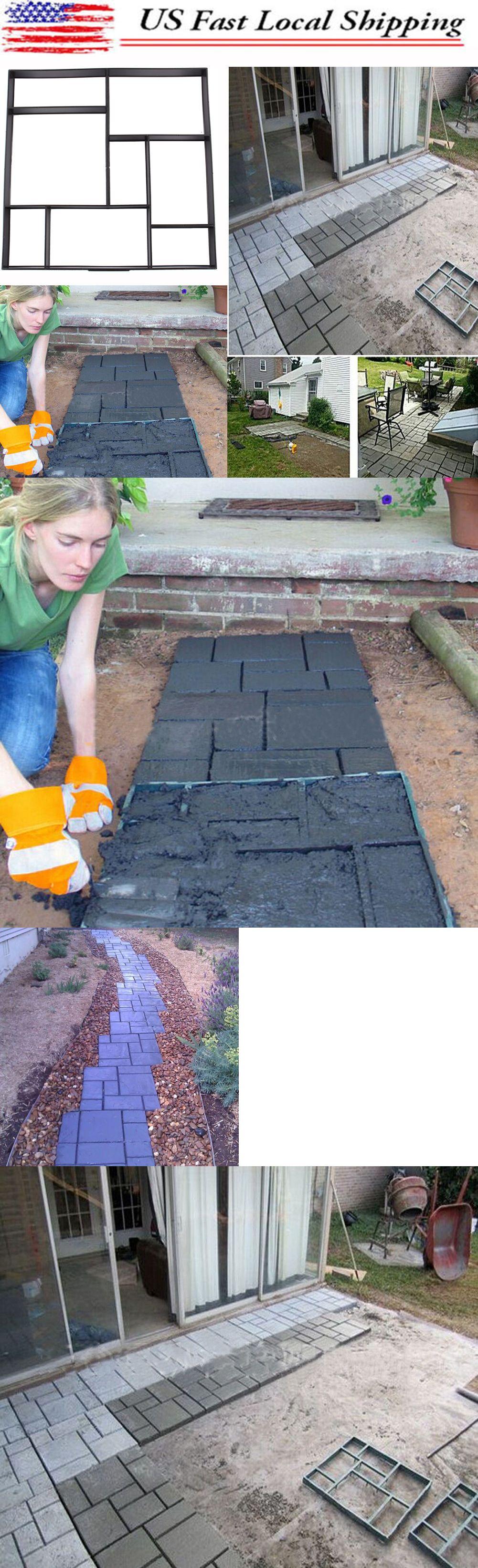 Diy driveway paving mold walk maker concrete stepping