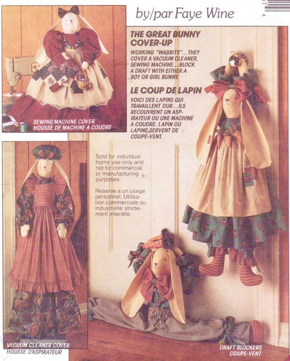 90s McCalls Crafts Sewing Pattern 5985 Bunny by CloesCloset | Great ...