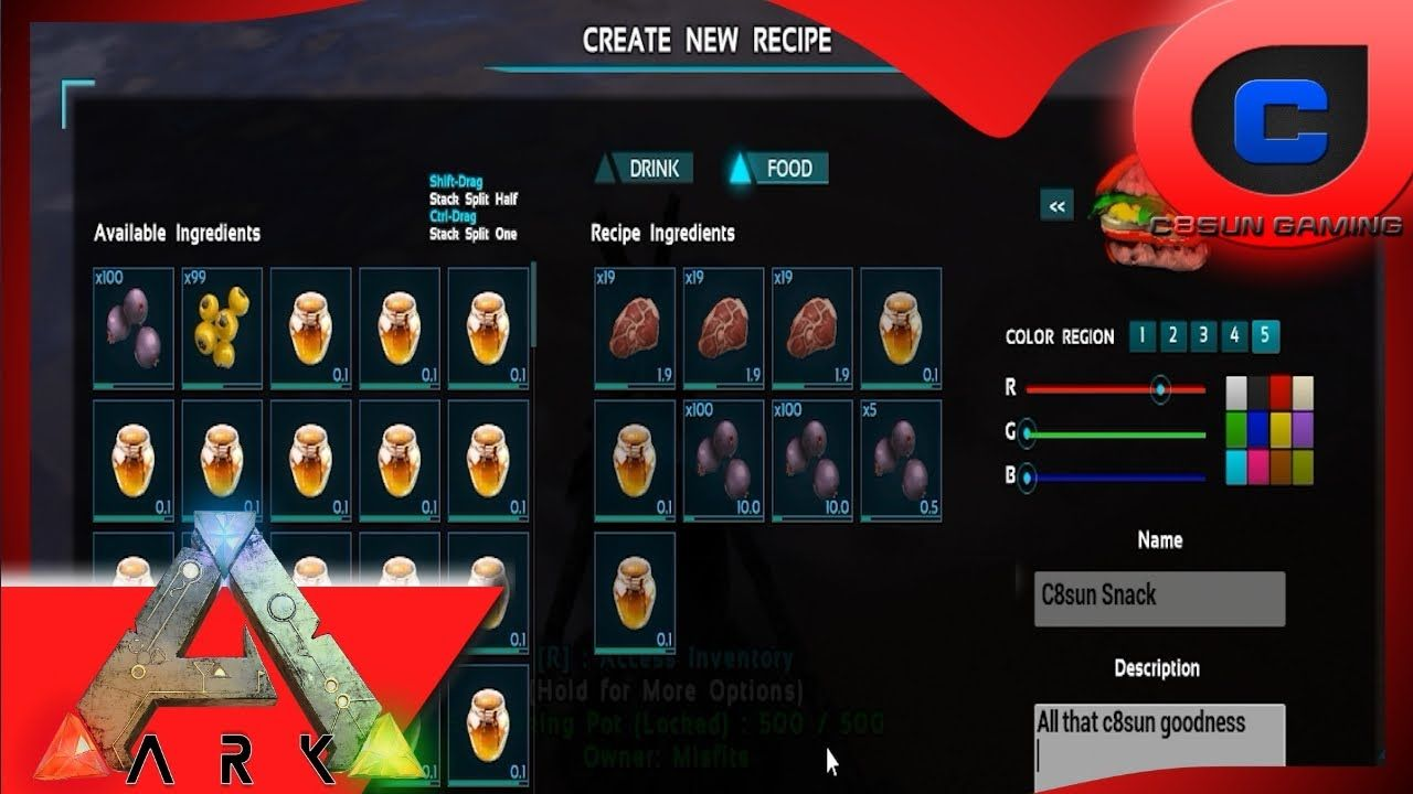 How To Make Them Custom Recipes 101 Updated Ark Survival Evolved Custom Recipe Cooking Recipes Cooking Icon