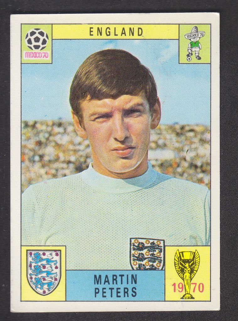 Panini Mexico 70 World Cup Martin Peters England