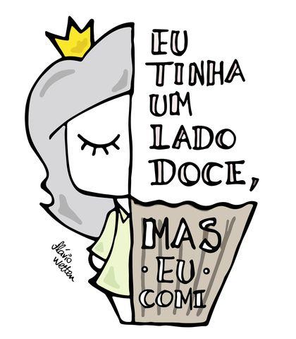 Camiseta Lado Doce De Flávio Wetten Life On A Draw Desenhos
