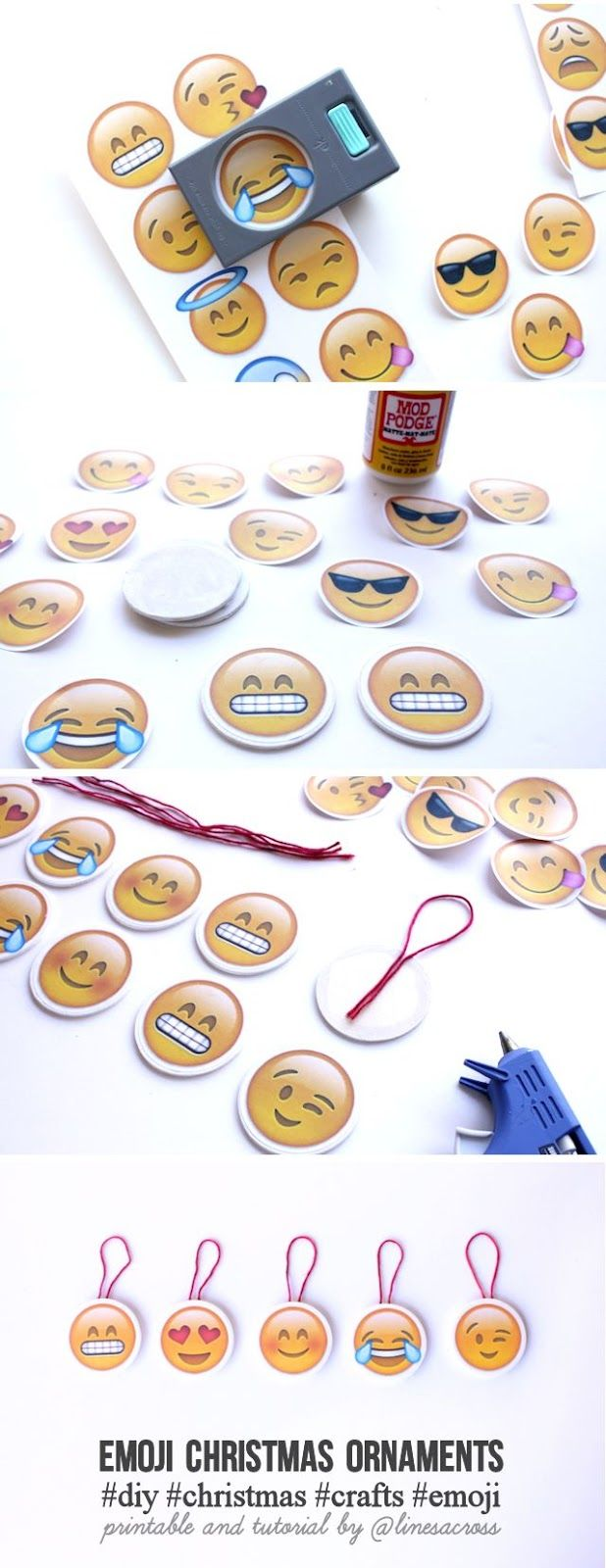 Diy Emoji Christmas Ornaments Emoji Christmas Emoji Diy Emoji Craft