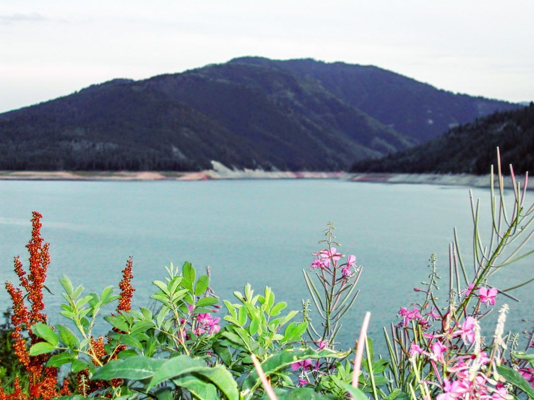 Located about 60 miles southeast of Rexburg, the Palisades Upper and Lower Lakes are very
