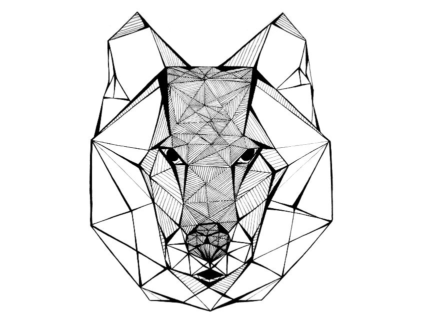 pingl par nicole ramage sur illustrations pinterest loups tatouages et tatouage loup. Black Bedroom Furniture Sets. Home Design Ideas