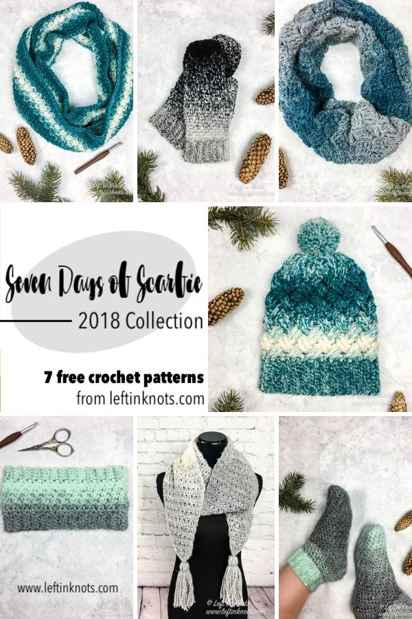 Seven Free Crochet Patterns - Seven Days of Scarfie 2018 Pattern ...
