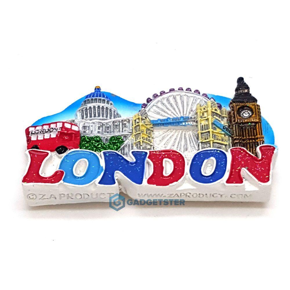London Souvenir Fun 3D Landmark Ceramic Magnet Gift Tourist UK Memorabilia