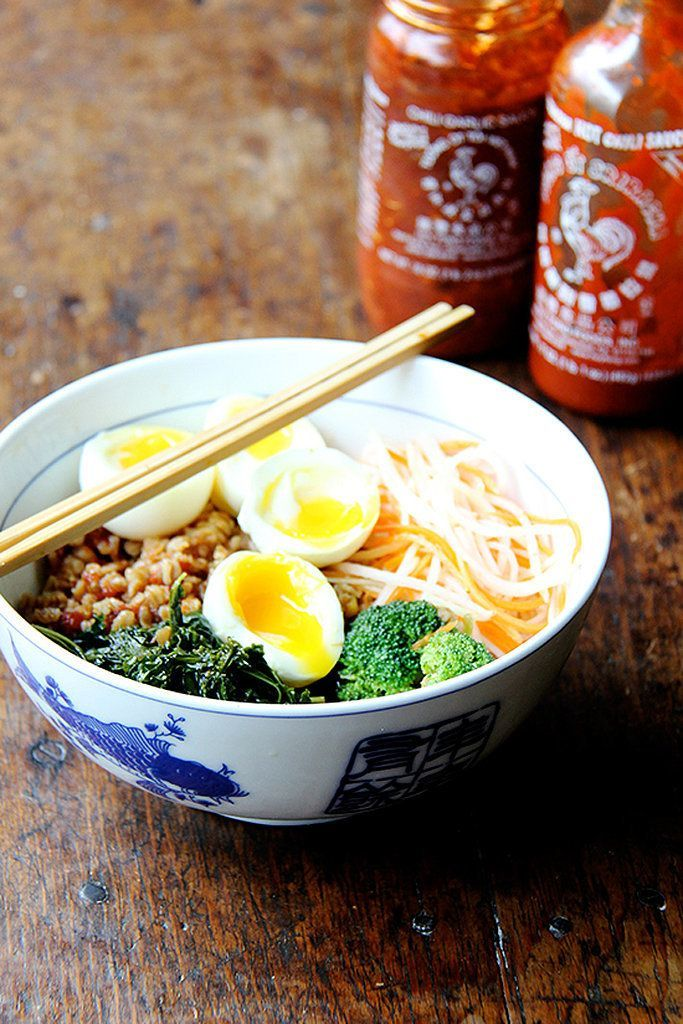 Grain Bowl With Teriyaki Sauce, Greens, and Soft-Boiled Egg | With the right recipes, it's possible to have a satisfying and delicious vegetarian meal during the week in no time. From pasta and stir-fry to salads and soup, these speedy dishes will have you looking forward to cooking dinner.