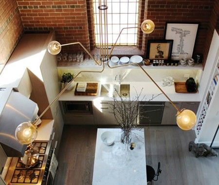 Brick-Walled Kitchen | via West40 Residences | House & Home