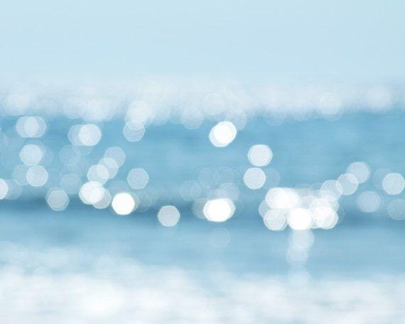 bokeh photography abstract nautical decor fine art photography set of 2 8x10 bright teal beach photography light ripples coastal decor