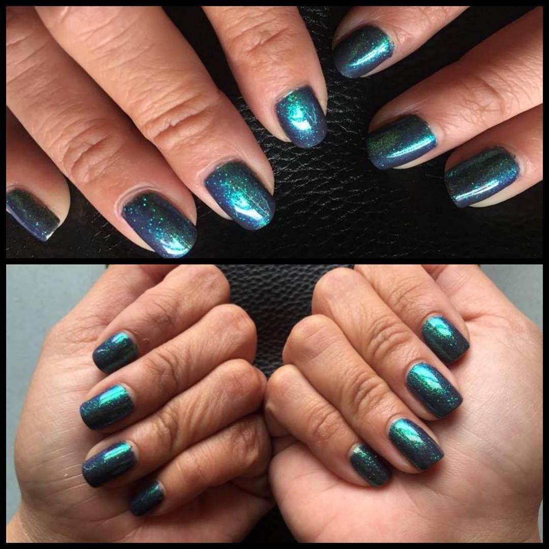CND shellac manicure: Asphalt with fairy dust additive. | Nails By ...