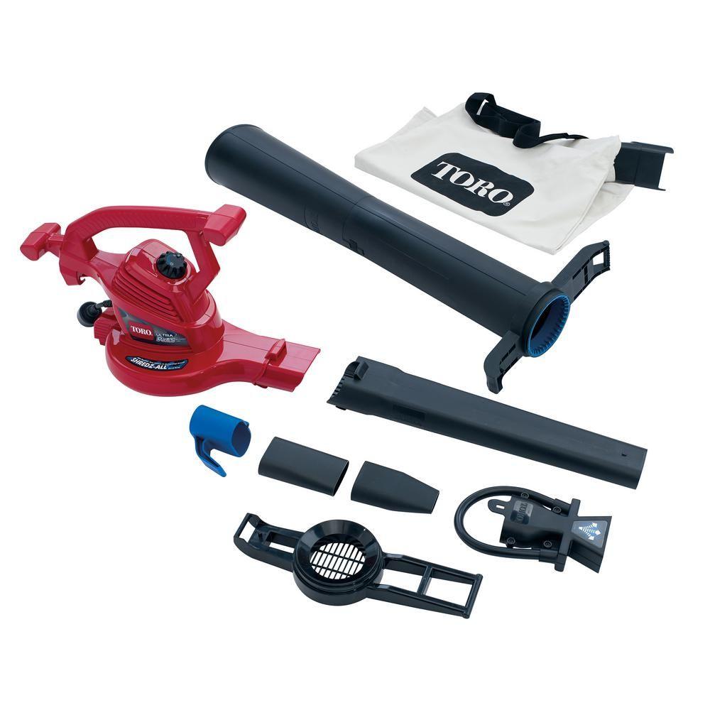 Toro Ultraplus 250 Mph 350 Cfm 12 Amp Electric Leaf Blower Vacuum Mulcher 51621 Fall Clean Up Leaf Blower Vacuums