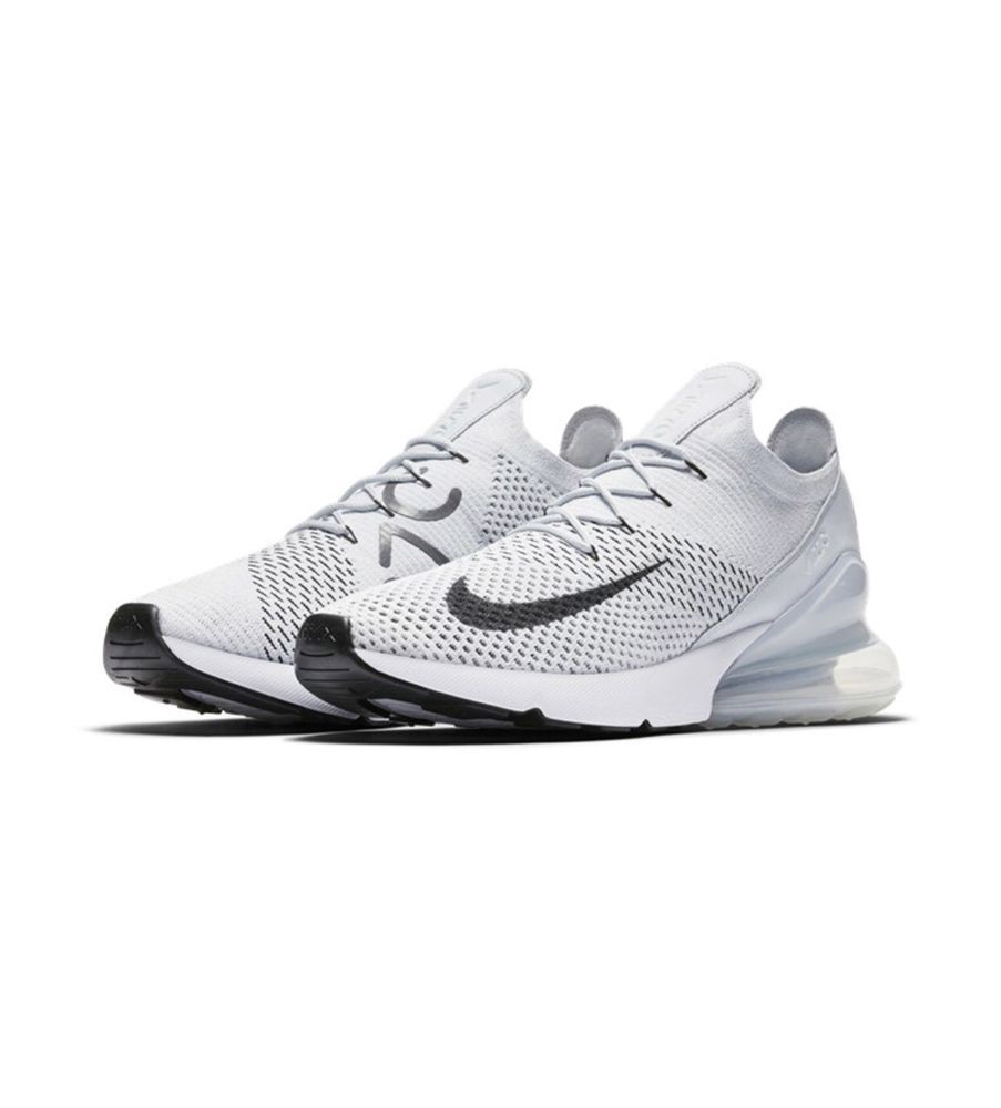 oben NIKE AIR MAX 270 FLYKNIT WHITE NEW WITH BOX NEW