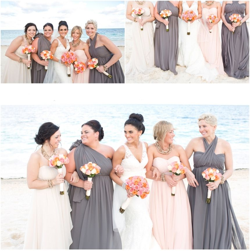Wedding Gowns Calgary: Champagne, Peach And Charcoal Bridesmaids Dresses! Calgary