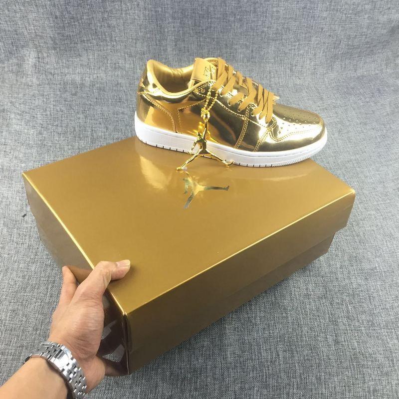 70042acc6cd2 Air Jordan 1 Low Pinnacle Metallic Gold in 2019