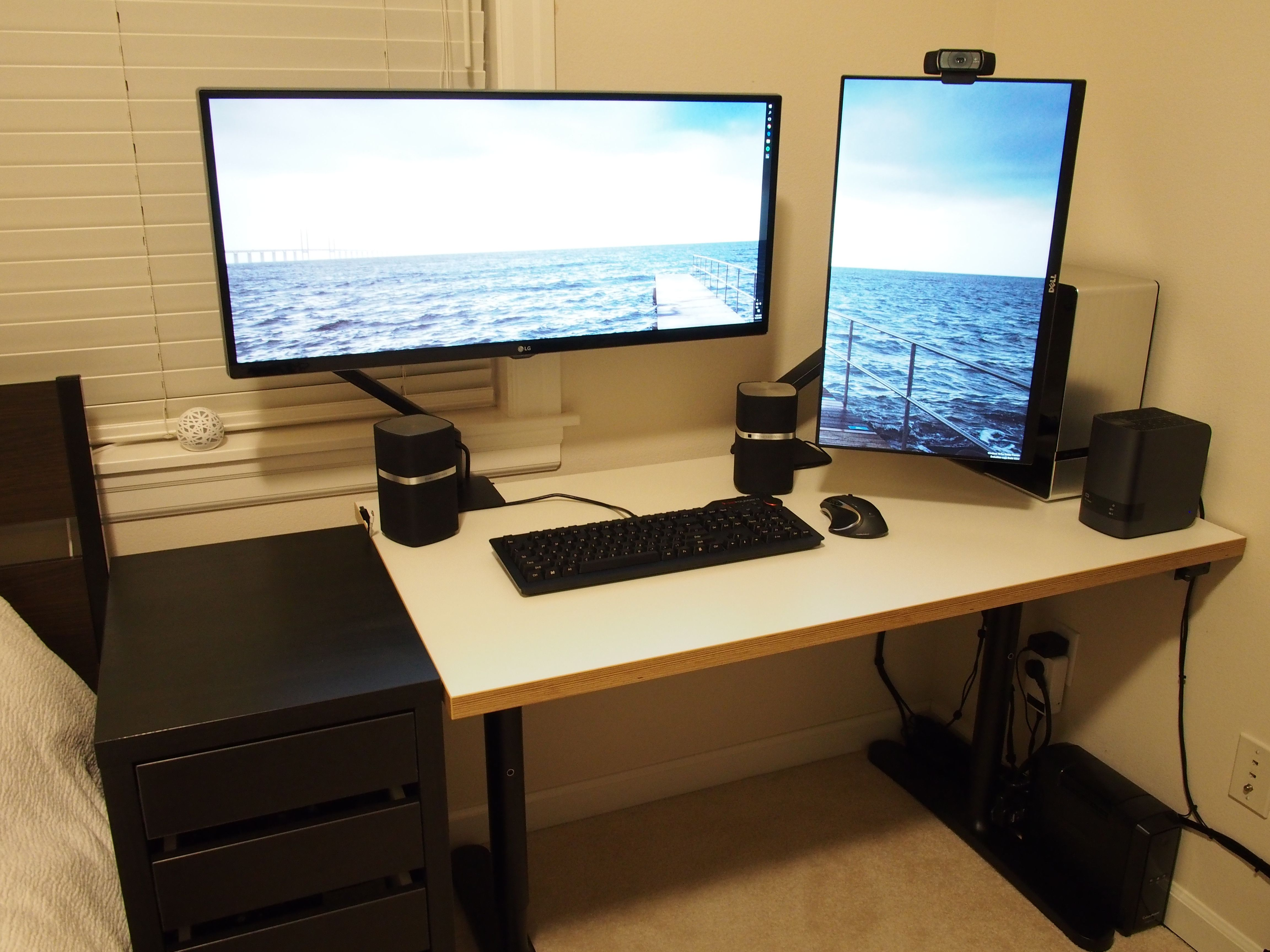 Multi User Computer Desk Dual Computer Monitor Desk Mount