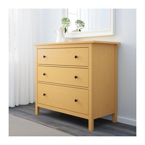 Storagechanging Table Option Hemnes 3 Drawer Chest Yellow Yellow