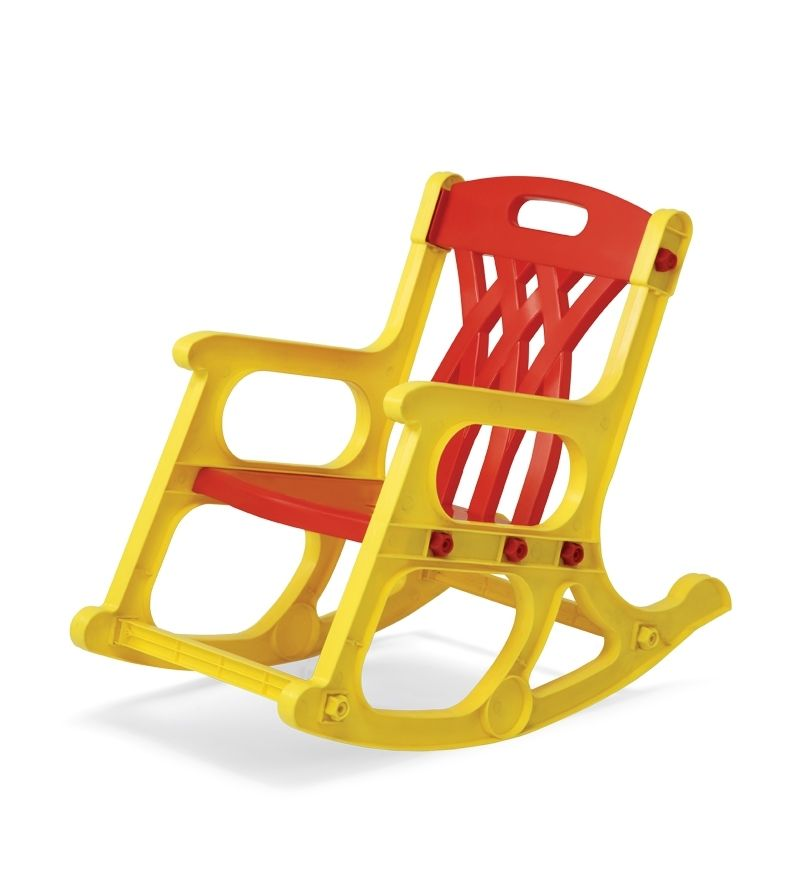 Admirable Nilkamal Rocker Kids Chair Red And Yellow Sillas Baby Dailytribune Chair Design For Home Dailytribuneorg