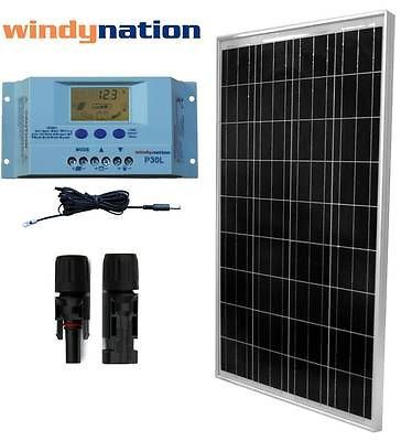 Details About Eco Solar Kit 100w Watts Solar Panel Off Grid 12v Rv Boat Home Solar System Solar Energy Panels Solar Panels Best Solar Panels