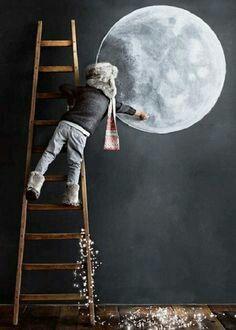 Drawed moon