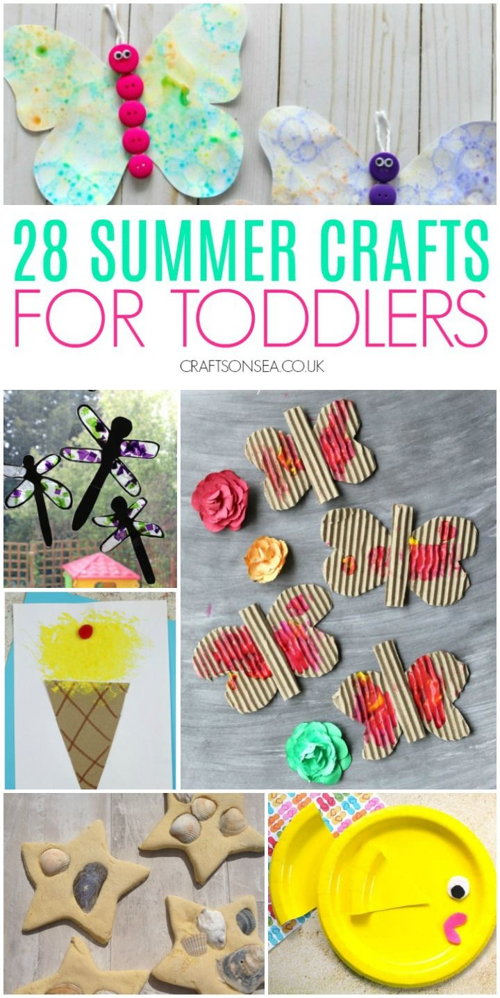 28 Easy And Fun Summer Crafts For Toddlers Summer Crafts For