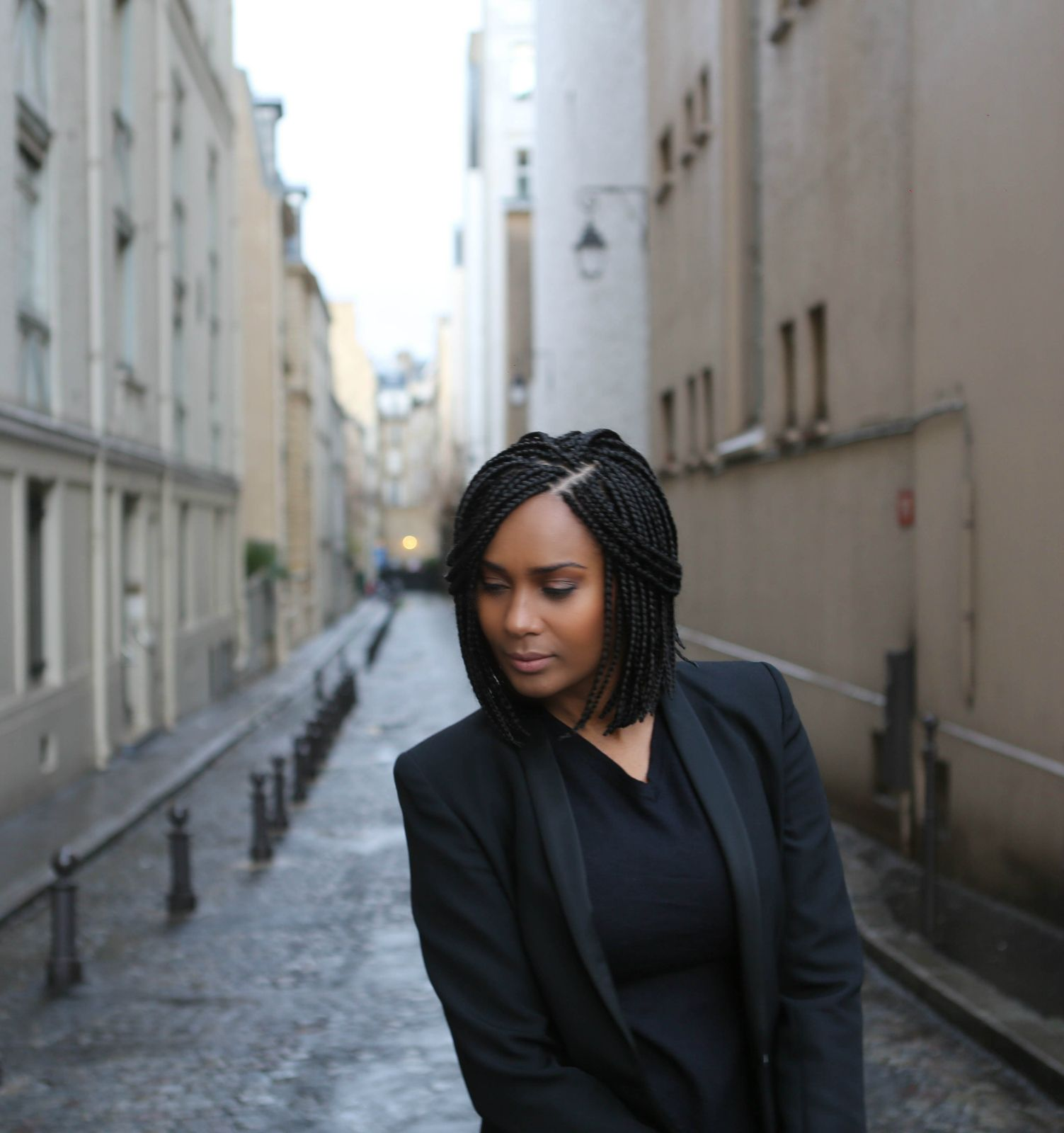 Tresses africaine avec meches rouge for Salon coiffure afro paris