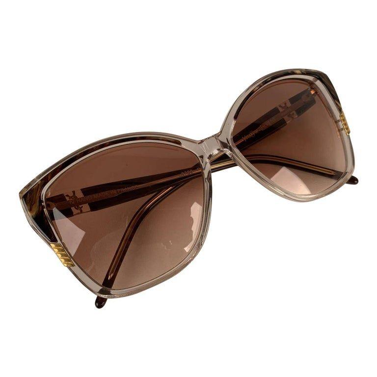 Yves Saint Laurent Vintage Clear Brown Sunglasses 8728 P 123
