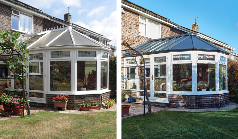 Projectspotlight Solid Panel Roof Replacement Good To Be Home Conservatory Roof Roof Roof Design