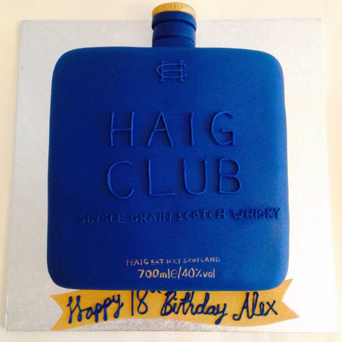 Haig Club Cake