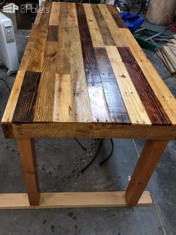 Multi-colored Pallet Dining Room Table images