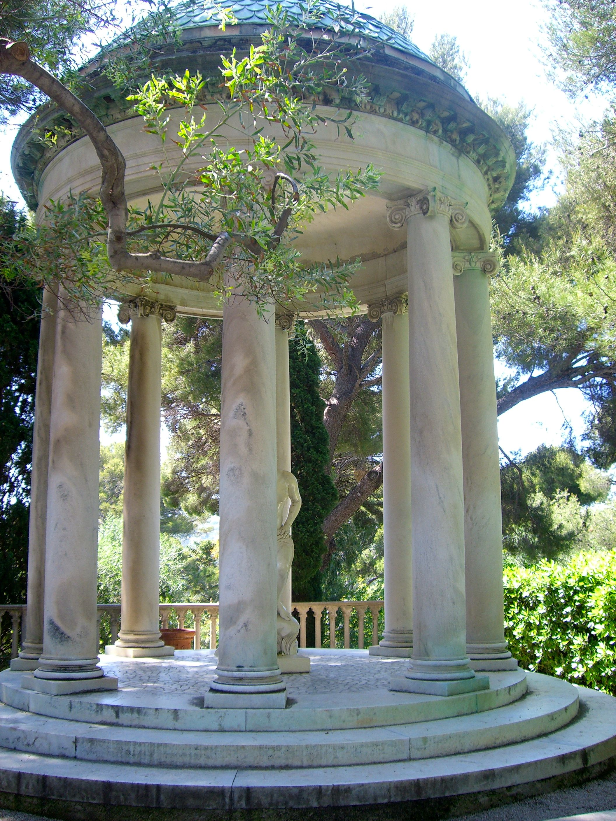 Stone column gazebo rothschild french mansion for French style gazebo