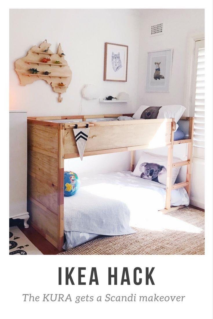 Photo of Auf dem Blog hackt mein IKEA KURA mit Ply für einen einfachen Scandi-Look. Kind…
