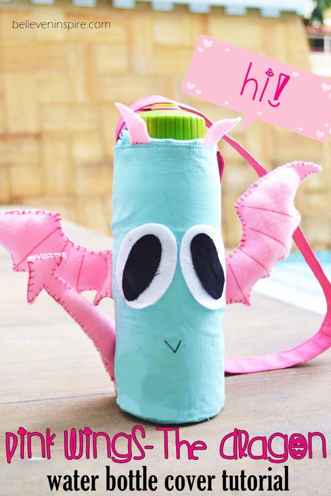Rosa Wings - Il coperchio Drago bottiglia (gratis per bambini modelli di cucitura) su believeninspire.com