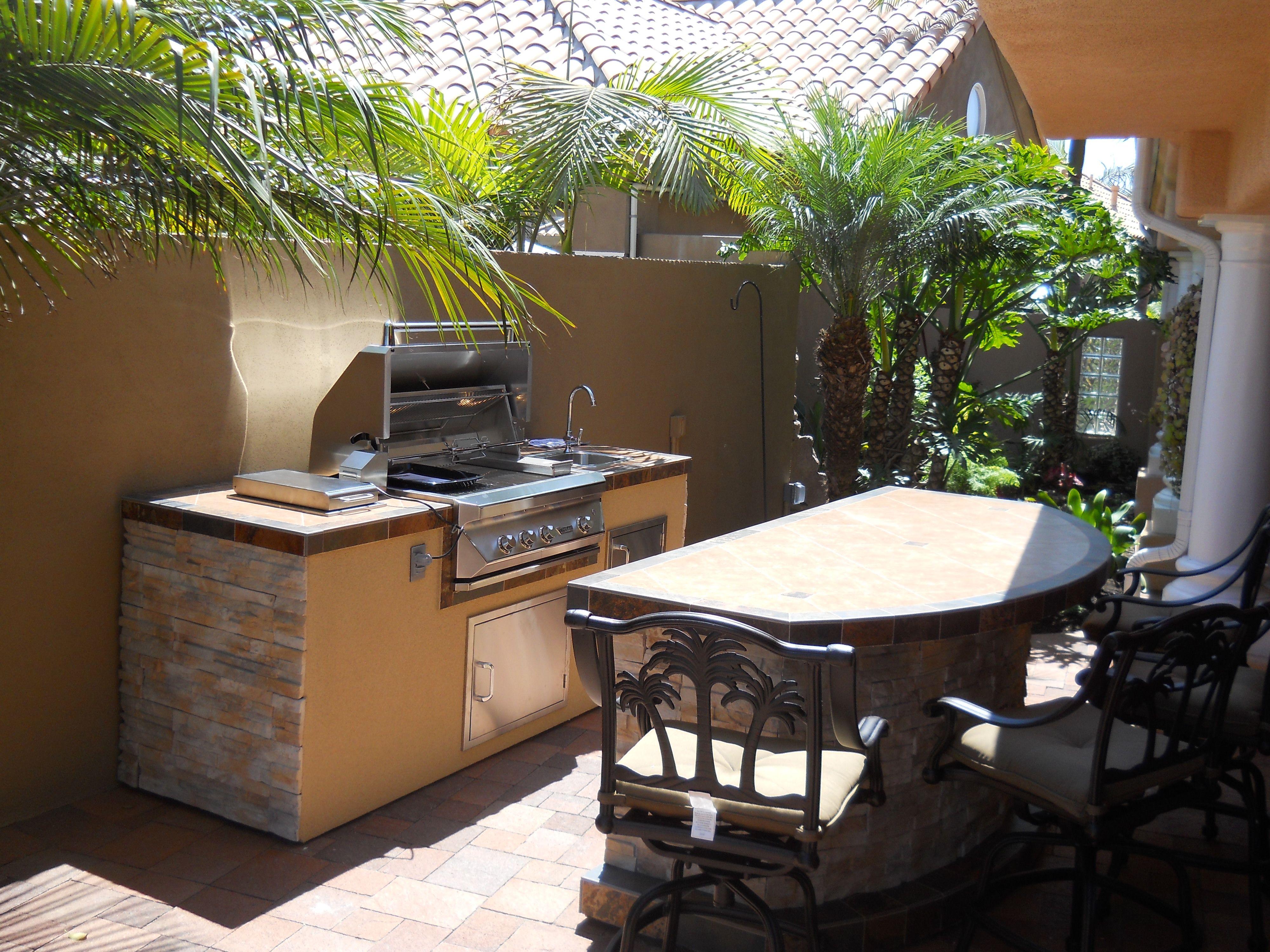 2 Piece BBQ Island - 36 Inch Built In Grill - With Bar ... on Diy Patio Grill Island id=36150