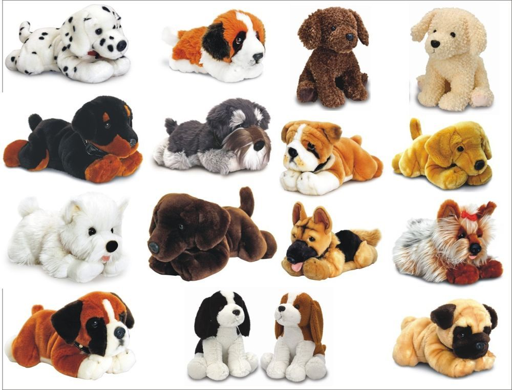 Keel Plush Dog Soft Toys Pug Labrador Westie Bulldog Dalmatian