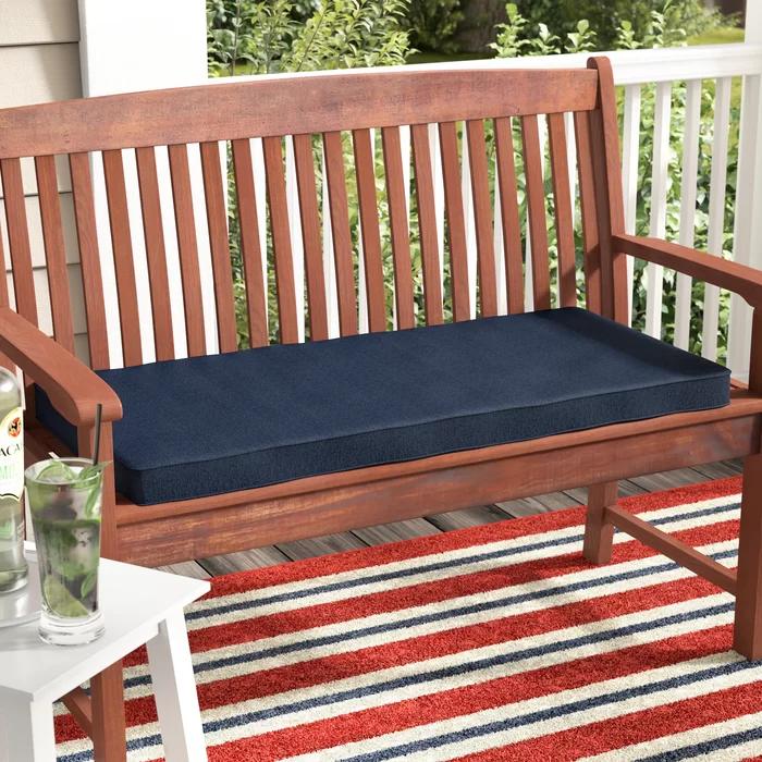 Indoor Outdoor Sunbrella Bench Cushion In 2020 Bench Cushions Patio Bench Cushions Outdoor Dining Chair Cushions