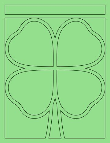 freebie for st patrick s day a lucky 4 leaf clover template for