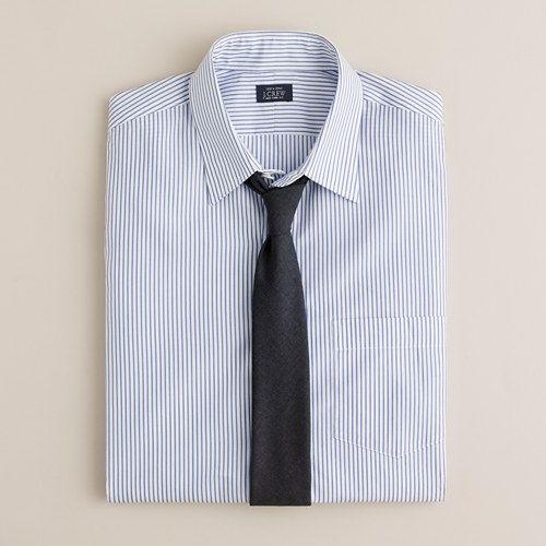 Slim Point-Collar Shirt. Poplar Stripe. J-Crew.