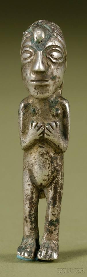 Pre Columbian Cast Silver Figure Peru Inca C 1400 1532 A D Columbian Lion Sculpture Sculptures