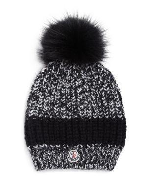 a73bc346e MONCLER Fur Pom-Pom Knit Hat.  moncler  hat